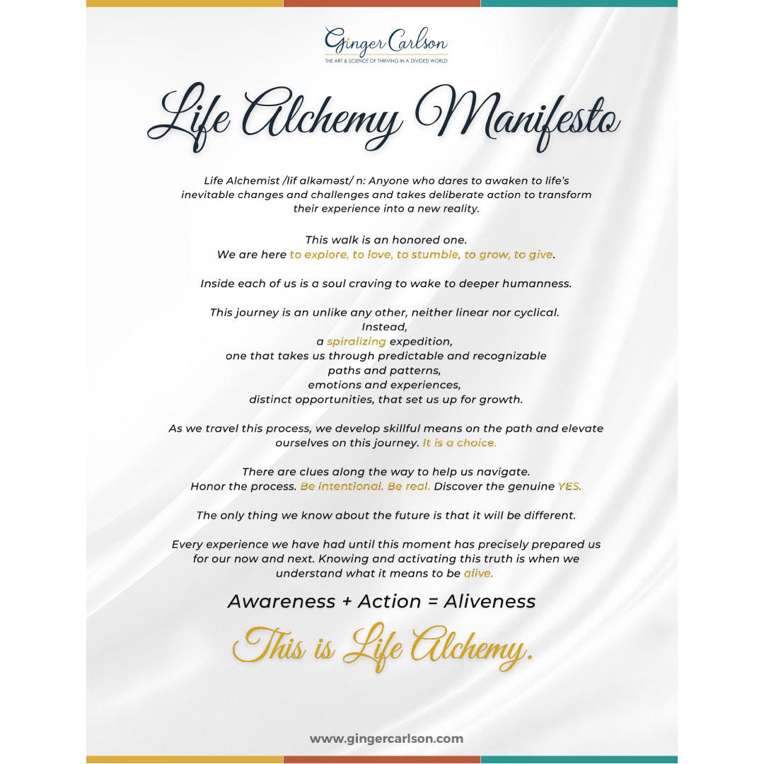 Life Alchemy Manifesto
